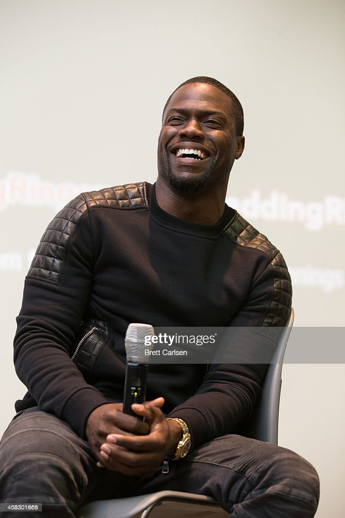 Kevin Hart attends a special screening of 'The Wedding Ringer' hosted by Kevin Hart and Josh Gad at Syracuse University on November 2 2014 in...