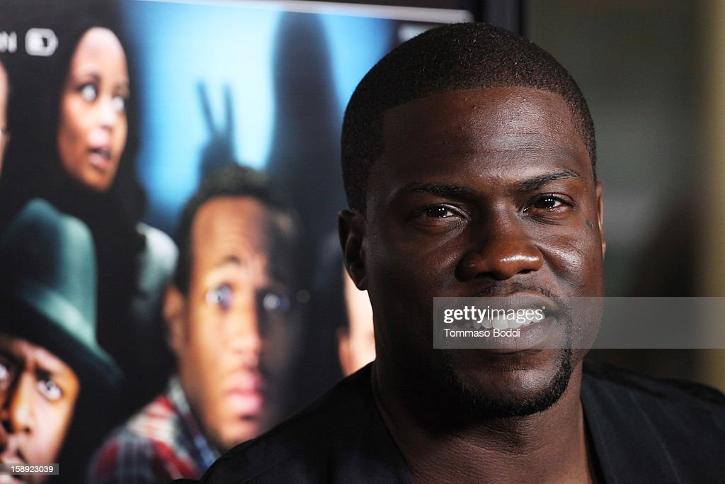 <a gi-track='captionPersonalityLinkClicked' href=/galleries/search?phrase=Kevin+Hart+-+Actor&family=editorial&specificpeople=4538838 ng-click='$event.stopPropagation()'>Kevin Hart</a> attends the 'A Haunted House' Los Angeles premiere held at the ArcLight Hollywood on January 3, 2013 in Hollywood, California.