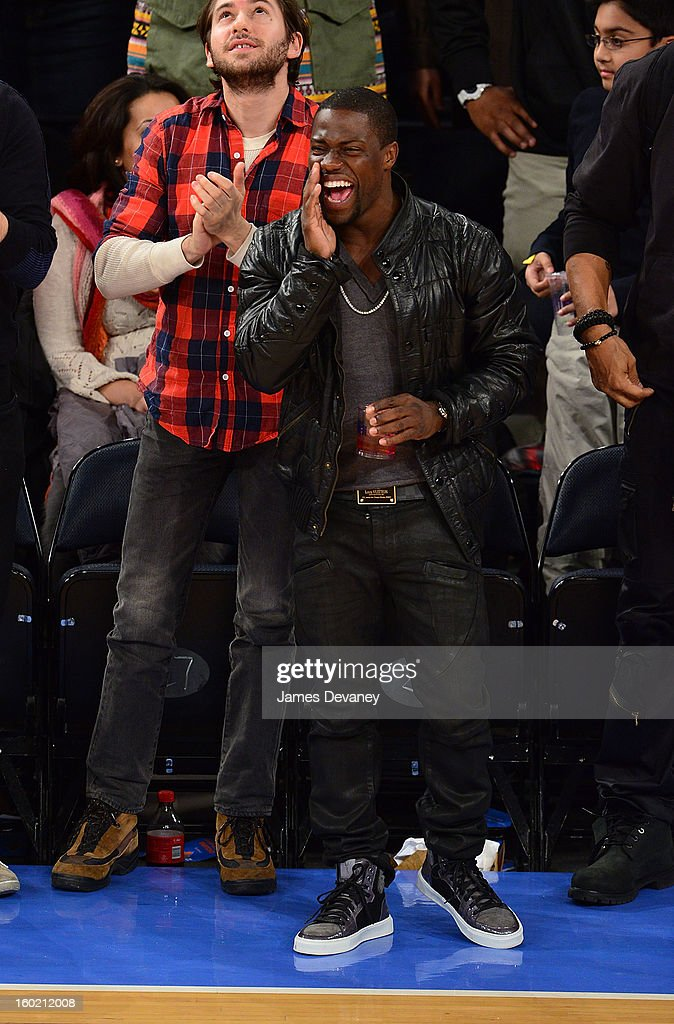 Kevin Hart attends the Atlanta Hawks vs New York Knicks game at Madison Square Garden on January 27, 2013 in New York City.