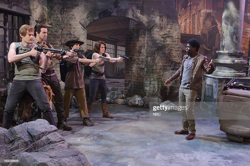 LIVE -- 'Kevin Hart' Episode 1635 -- Pictured: (l-r) Bill Hader, Taran Killam, Nasim Pedrad, Kate McKinnon, Kevin Hart --