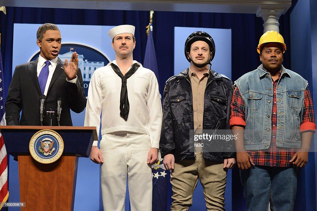 LIVE -- 'Kevin Hart' Episode 1635 -- Pictured: (l-r) Jay Pharoah, Taran Killam, Tim Robinson, Kenan Thompson --