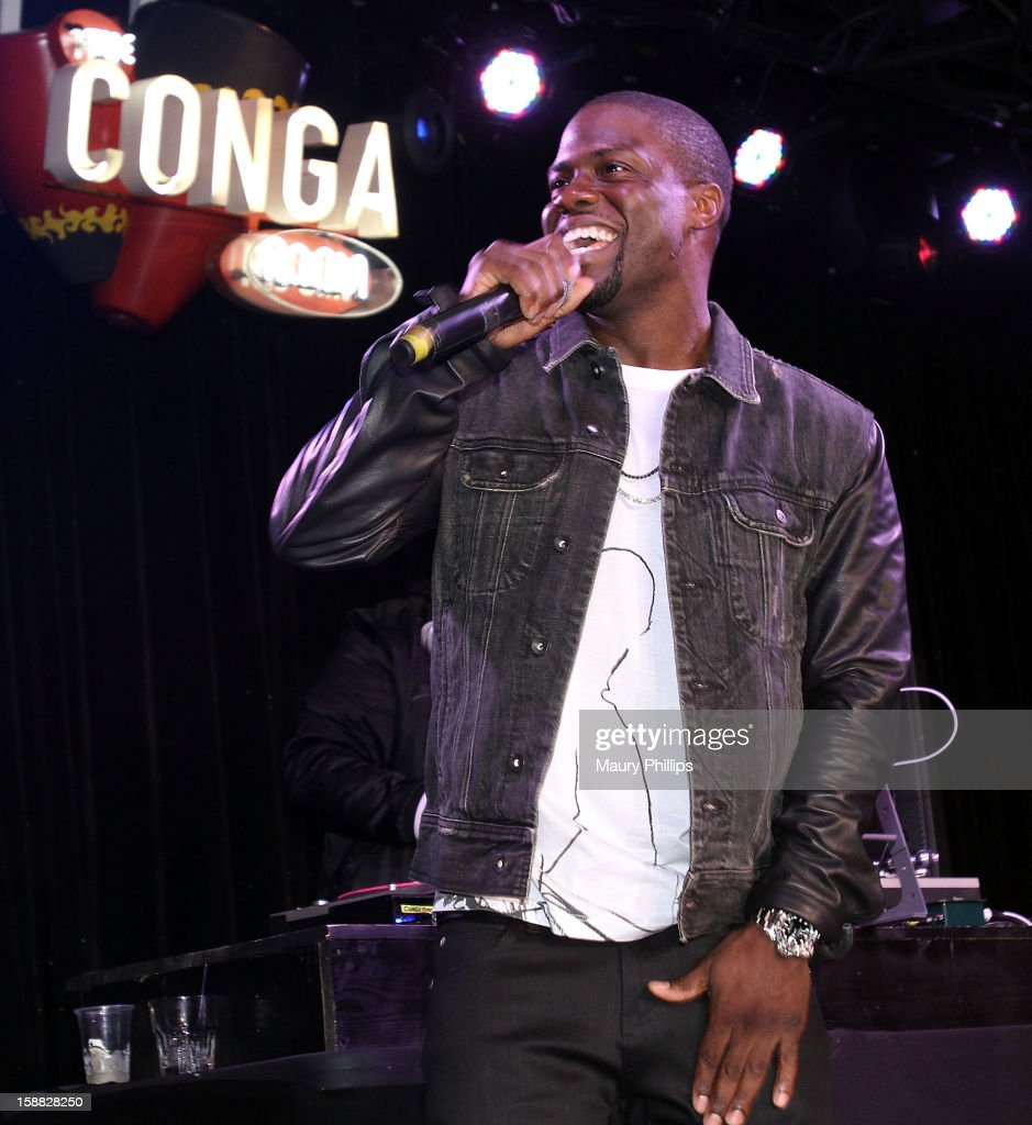 <a gi-track='captionPersonalityLinkClicked' href=/galleries/search?phrase=Kevin+Hart+-+Actor&family=editorial&specificpeople=4538838 ng-click='$event.stopPropagation()'>Kevin Hart</a> onstage during Real Husbands of Hollywood Kick off Party at The Conga Room at L.A. Live on December 29, 2012 in Los Angeles, California.