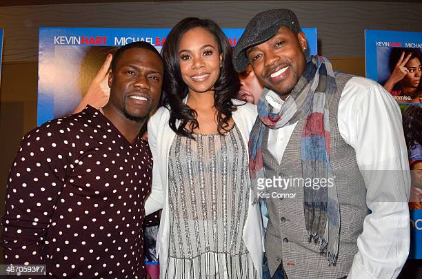 Kevin Hart Regina Hall and Will Parker walk the red carpet and speak with members of the press during the Washington DC screening of 'About Last...