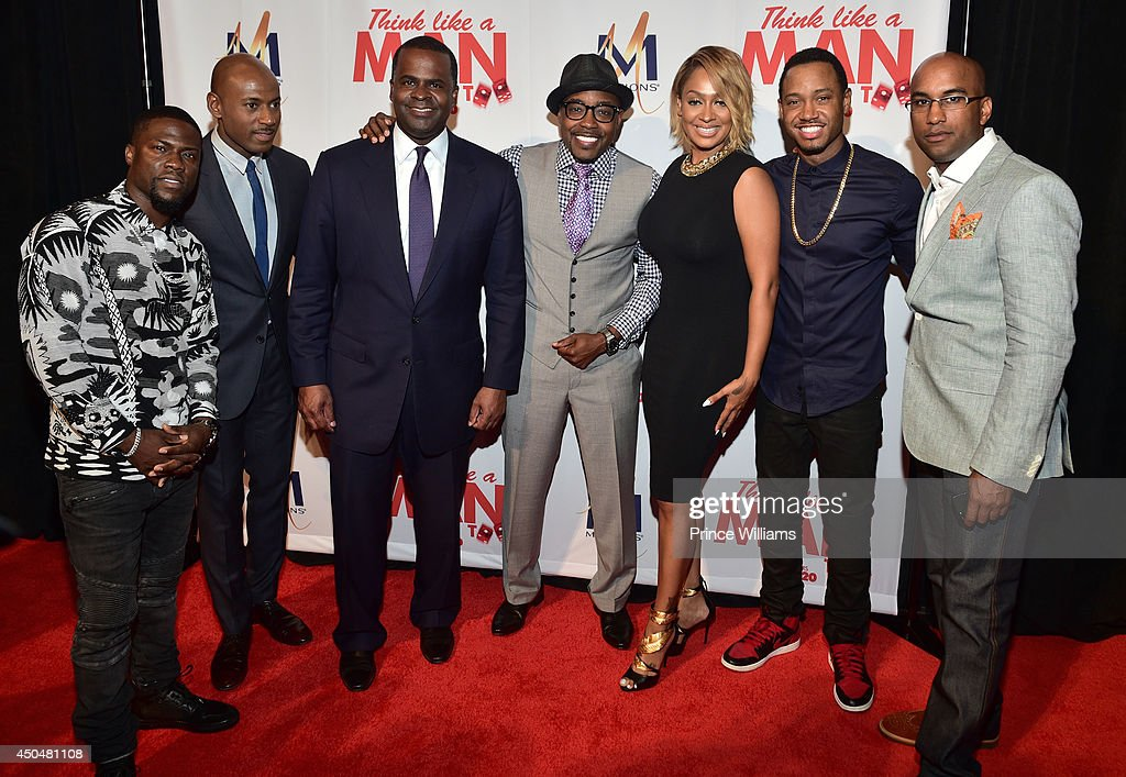 Kevin Hart, Romany Malco, Kasim Reed, La La Anthony and Terrence J attend the 'Think Like A Man Too' premiere at Regal Cinemas Atlantic Station Stadium 16 on June 11, 2014 in Atlanta, Georgia.