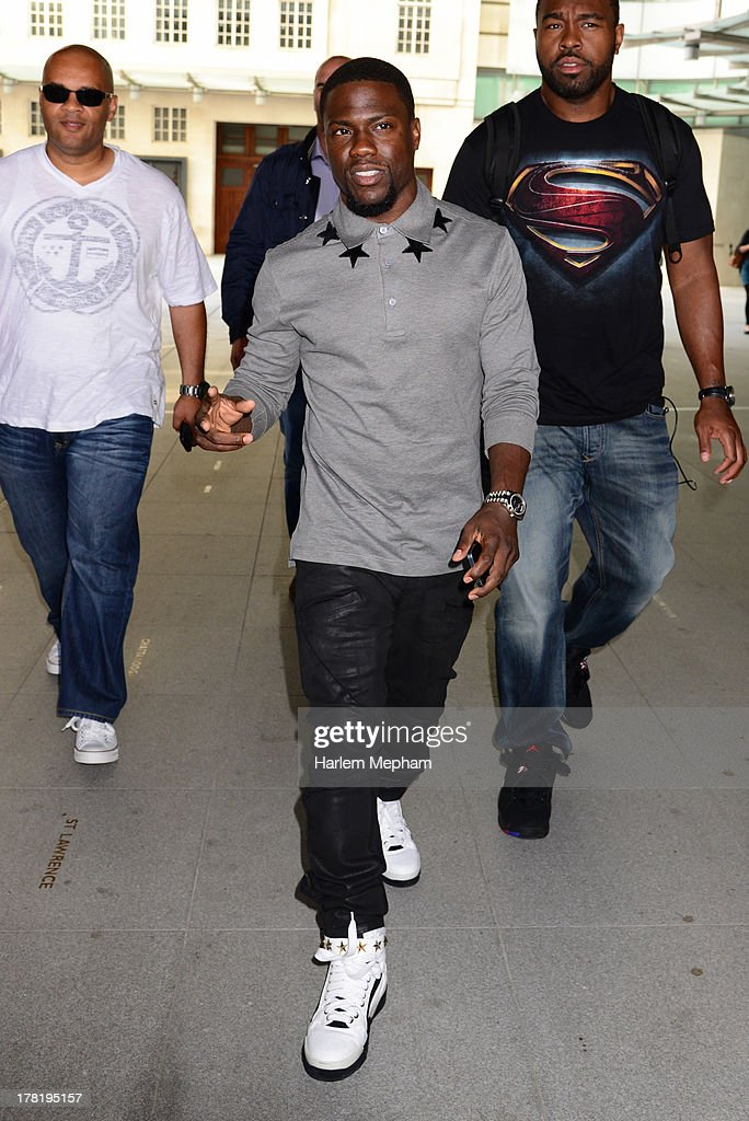 Kevin Hart sighted leaving BBC Broadcasting House on August 27, 2013 in London, England.