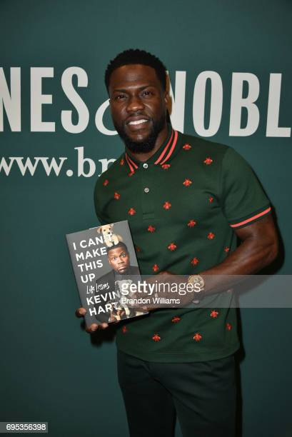 Kevin Hart with his book 'I Can't Make This Up Life Lessons' at an appearance at Barnes Noble at The Grove on June 12 2017 in Los Angeles California