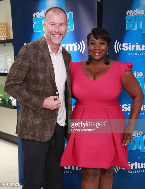 Kevin Harter and SiriusXM Host Bevy Smith attend A Radio Special Celebrating The Anniversary Of Andy Cohen's SiriusXM Channel Radio Andy at...