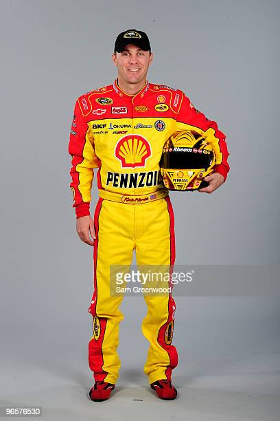 Kevin Harvick driver of the Shell/Pennzoil Chevrolet poses during NASCAR Sprint Cup Series portraits at Daytona International Speedway on February 11...
