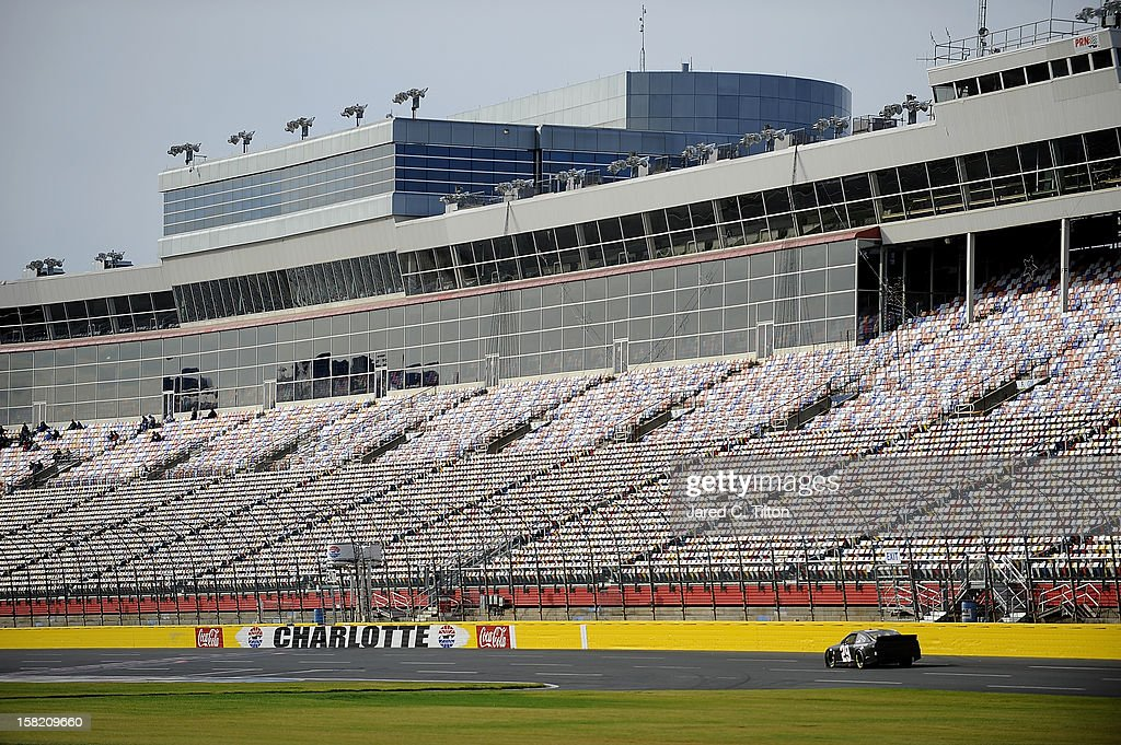 Kevin Harvick drives the #29 Budweiser Chevrolet during testing at Charlotte Motor Speedway on December 11, 2012 in Concord, North Carolina.