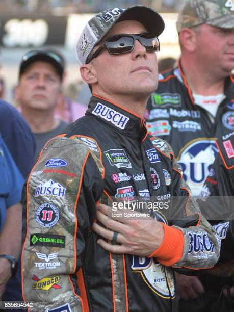 Kevin Harvick StewartHaas Racing Busch Outdoors Ford Fusion before the NASCAR Monster Energy Cup Series Bass Pro Shops NRA Night Race on August 19 at...