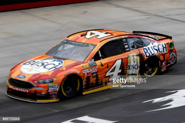 Kevin Harvick StewartHaas Racing Busch Outdoors Ford Fusion during practice for the Bass Pro Shop NRA 500 at Bristol Motor Speedway on August 18 2017...
