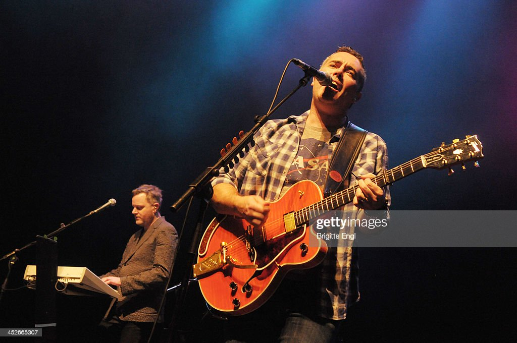 Kevin Hearn and Ed Robertson of Barenaked Ladies performs on stage at Indigo2 at O2 Arena on November 30 2013 in London United Kingdom