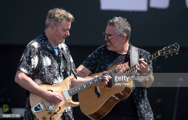 Kevin Hearn and Ed Robertson of the band Barenaked Ladies performs live onstage at Indianapolis Motor Speedway on May 26 2017 in Indianapolis Indiana
