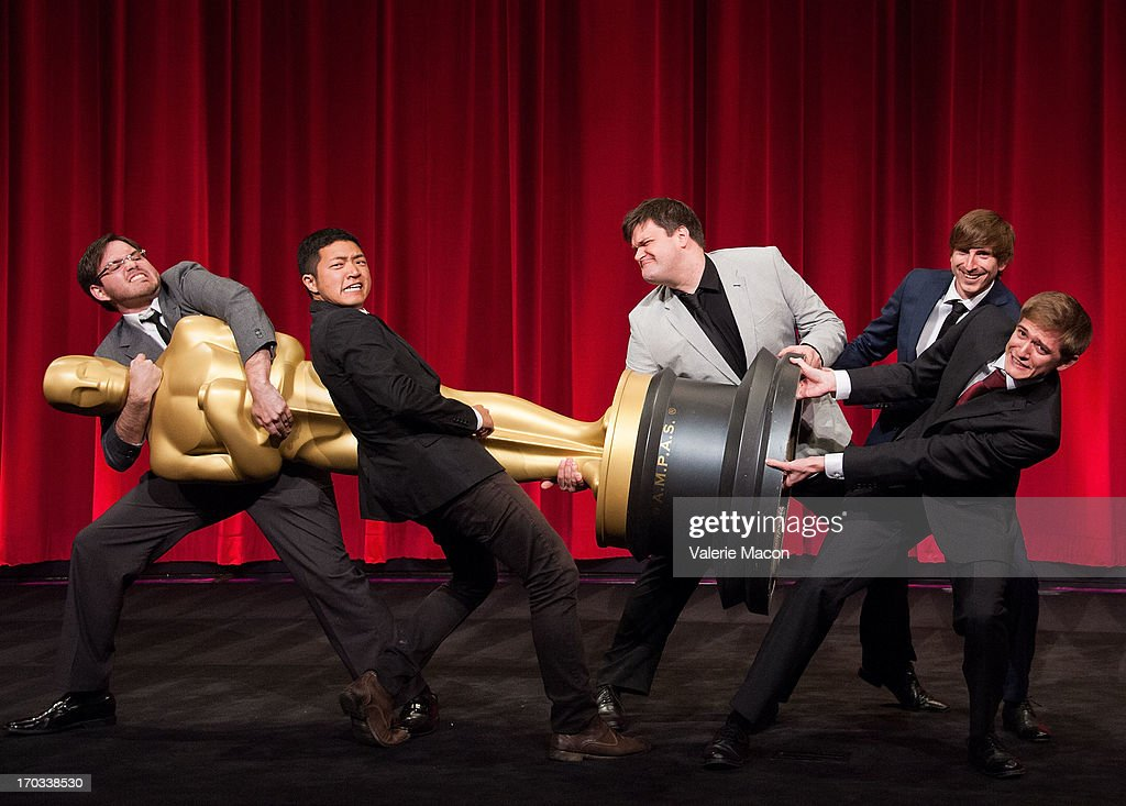 Kevin Herron, Eusong Lee, John Mattiuzzi, Wouter Bouvijn and Daniel Koehler attends The Academy Of Motion Picture Arts And Sciences' 40th Annual Student Academy Awards Ceremony at AMPAS Samuel Goldwyn Theater on June 8, 2013 in Beverly Hills, California.