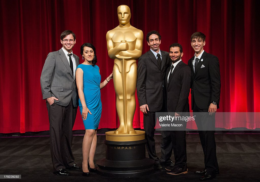 Kevin Herron, Talkhon Hamzavi, David Aristizabal, Mauro Mueller and Perry Janes attend The Academy Of Motion Picture Arts And Sciences' 40th Annual Student Academy Awards Ceremony at AMPAS Samuel Goldwyn Theater on June 8, 2013 in Beverly Hills, California.