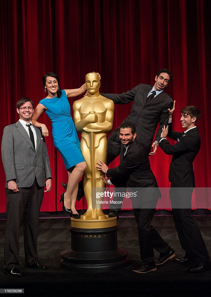 Kevin Herron Talkhon Hamzavi David Aristizabal Mauro Mueller and Perry Janes attend The Academy Of Motion Picture Arts And Sciences' 40th Annual...