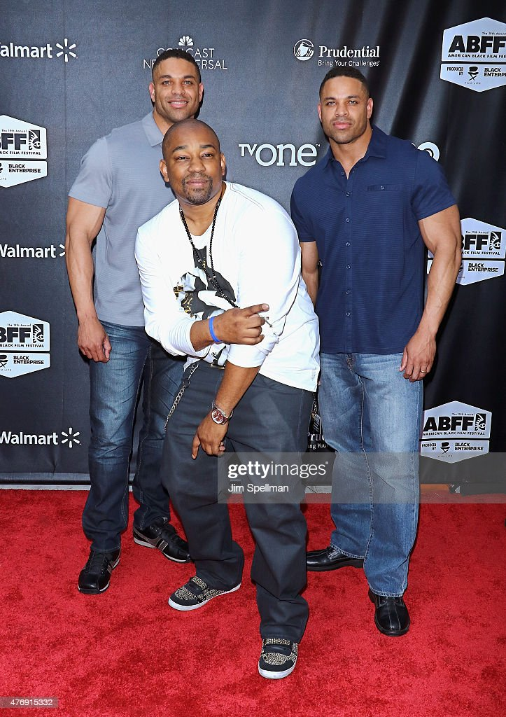 Kevin Hodge Dennis LA White and Keith Hodge attend the 'Dope' opening night premiere during the 2015 American Black Film Festival at SVA Theater on...