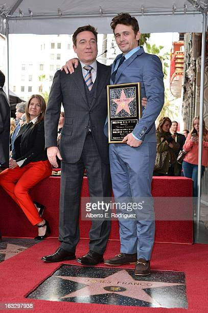 Kevin Huvane and actor James Franco attend a ceremony honoring James Franco with a star on The Hollywood Walk of Fame on March 7 2013 in Hollywood...