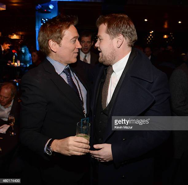Kevin Huvane and James Corden attend the after party for the world premiere of 'Into the Woods' at The Edison Ballroom on December 8 2014 in New York...