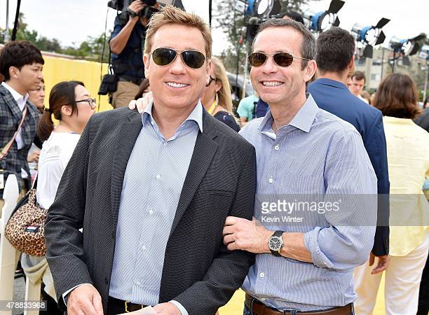 Kevin Huvane Managing Partner CAA and Richard Lovett President CAA arrive at the premiere of Universal Pictures and Illumination Entertainment's...