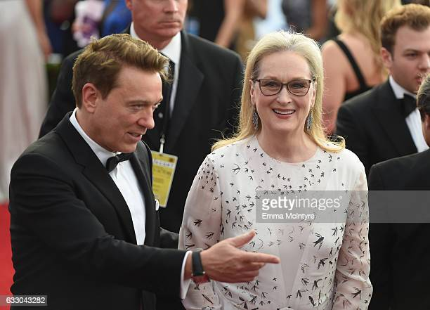 Kevin Huvane of CAA and actor Meryl Streep attend The 23rd Annual Screen Actors Guild Awards at The Shrine Auditorium on January 29 2017 in Los...
