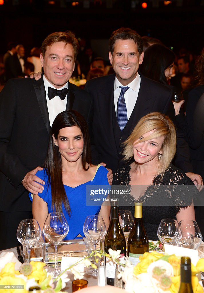 Kevin Huvane of CAA, President of Turner Networks Michael Wright, actress Sandra Bullock and TV personality Chelsea Handler attend the 2014 AFI Life Achievement Award: A Tribute to Jane Fonda at the Dolby Theatre on June 5, 2014 in Hollywood, California. Tribute show airing Saturday, June 14, 2014 at 9pm ET/PT on TNT.
