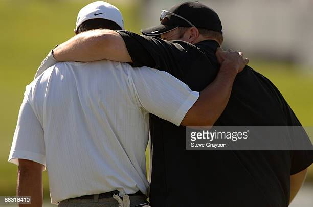 Kevin James and Tiger Woods in action during the PGA TOUR's 2006 Buick Invitational ProAm at Torrey Pines South in La Jolla California January 25 2006