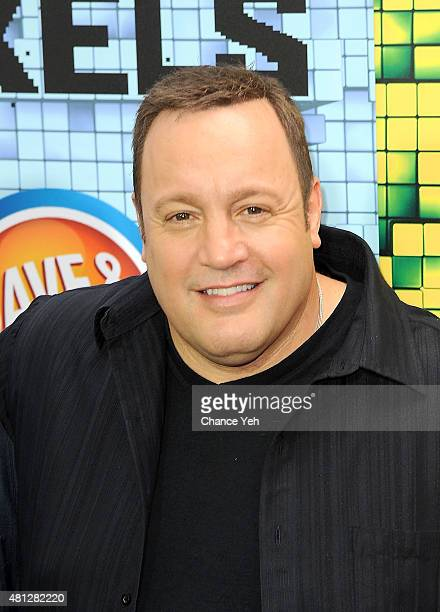 Kevin James attends 'Pixels' New York premiere at Regal EWalk on July 18 2015 in New York City