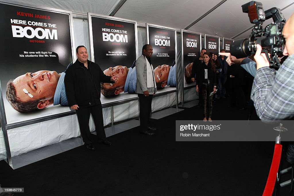 Kevin James attends the 'Here Comes The Boom' premiere at AMC Loews Lincoln Square on October 9, 2012 in New York City.