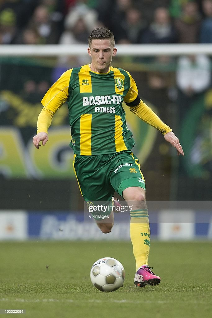 Kevin Jansen of ADO Den Haag during the Dutch Eredivisie match between ADO Den Haag and Heracles Almelo at the Kyocera Stadium on march 03, 2013 in The Hague, The Netherlands