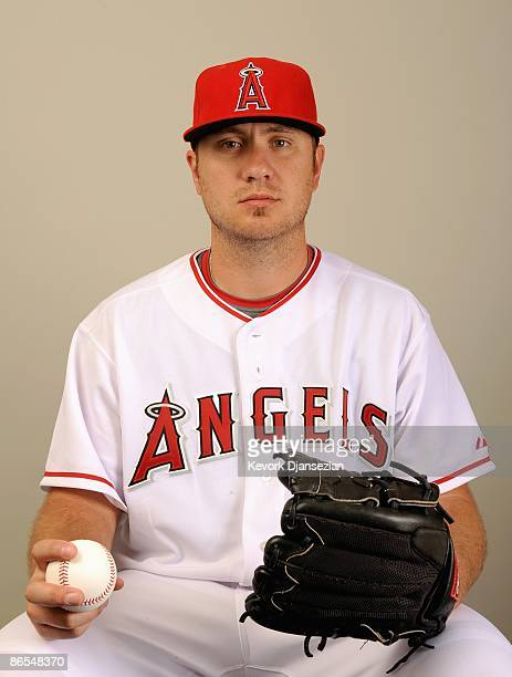 Kevin Jepsen of the Los Angeles Angels of Anaheim poses during photo day at Tempe Diablo Stadium on February 25 2009 in Tempe Arizona