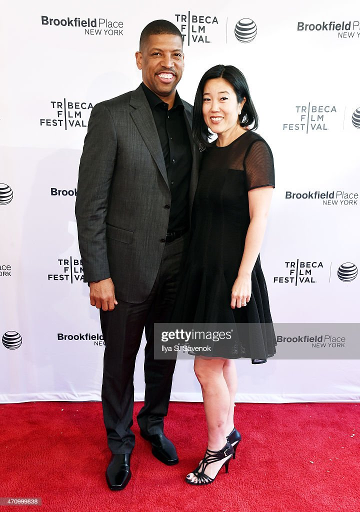 Kevin Johnson and Michelle Johnson attend the premiere of 'ESPN Down In The Valley' during the 2015 Tribeca Film Festiva at the SVA Theater on April...