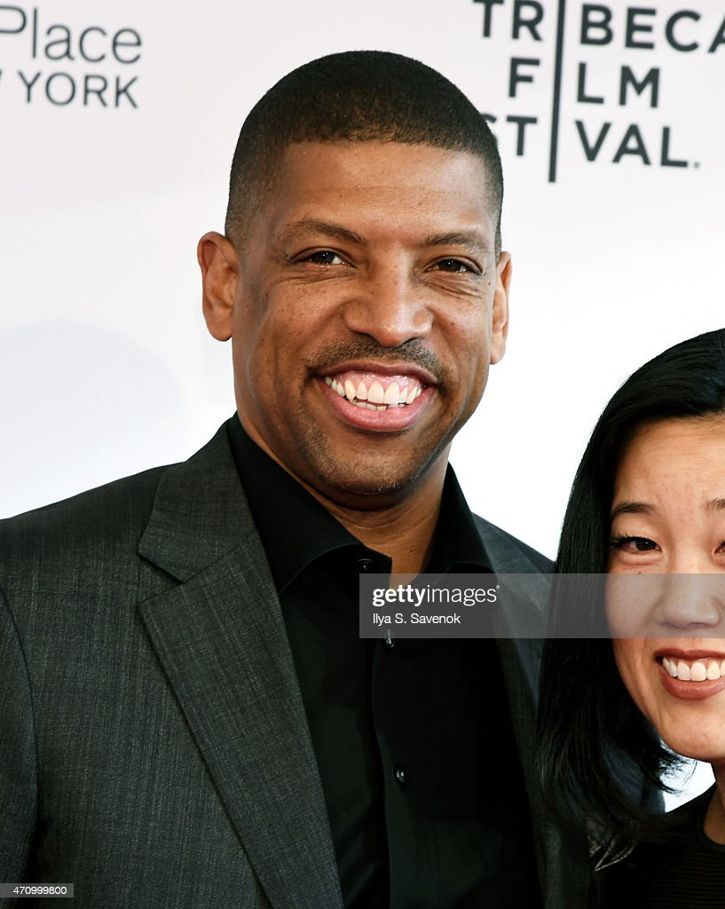 Kevin Johnson attends the premiere of 'ESPN Down In The Valley' during the 2015 Tribeca Film Festiva at the SVA Theater on April 24 2015 in New York...