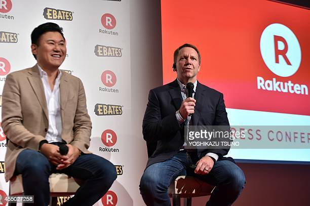 Kevin Johnson CEO of US online shopping operator Ebates announces Japanese ecommerce giant Rakuten will buy Ebates for about one billion USD...