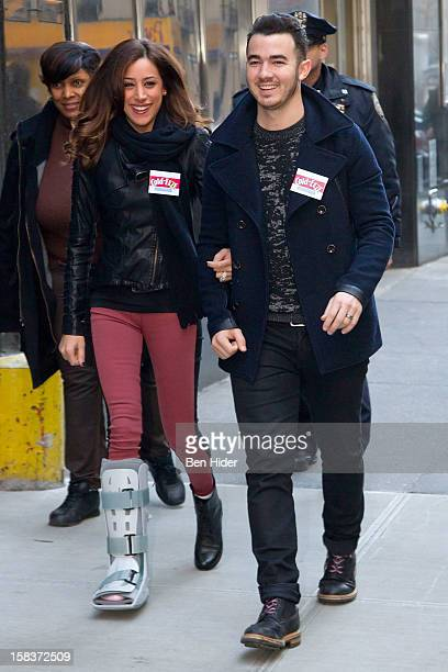 Kevin Jonas And Danielle Jonas attend City Harvest Holiday Season Food Drive at FDNY Station Lexington 3rd on December 14 2012 in New York City