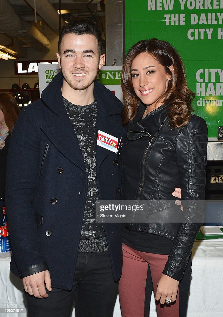 <a gi-track='captionPersonalityLinkClicked' href=/galleries/search?phrase=Kevin+Jonas&family=editorial&specificpeople=709547 ng-click='$event.stopPropagation()'>Kevin Jonas</a> and Danielle Jonas attend the <a gi-track='captionPersonalityLinkClicked' href=/galleries/search?phrase=Kevin+Jonas&family=editorial&specificpeople=709547 ng-click='$event.stopPropagation()'>Kevin Jonas</a>, Danielle Jonas and City Harvest Holiday Season Food Drive at FDNY Station - Lexington & 3rd on December 14, 2012 in New York City.