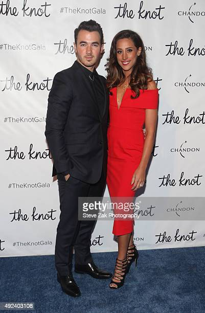 Kevin Jonas and Danielle Jonas attend The Knot Gala 2015 at New York Public Library on October 12 2015 in New York City