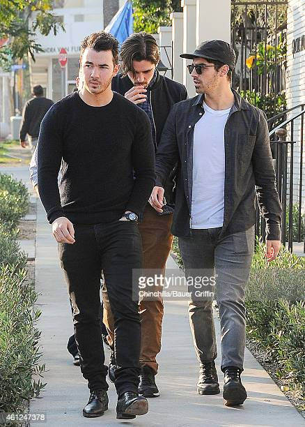 Kevin Jonas and Joe Jonas are seen on January 09 2015 in Los Angeles California