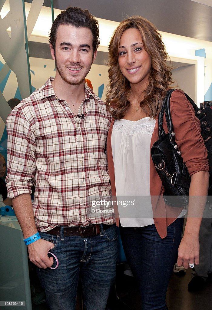 <a gi-track='captionPersonalityLinkClicked' href=/galleries/search?phrase=Kevin+Jonas&family=editorial&specificpeople=709547 ng-click='$event.stopPropagation()'>Kevin Jonas</a> (L) and wife <a gi-track='captionPersonalityLinkClicked' href=/galleries/search?phrase=Danielle+Deleasa&family=editorial&specificpeople=6716653 ng-click='$event.stopPropagation()'>Danielle Deleasa</a> attend the unveiling of the AOL media room at the Ronald McDonald House on October 7, 2011 in New York City.