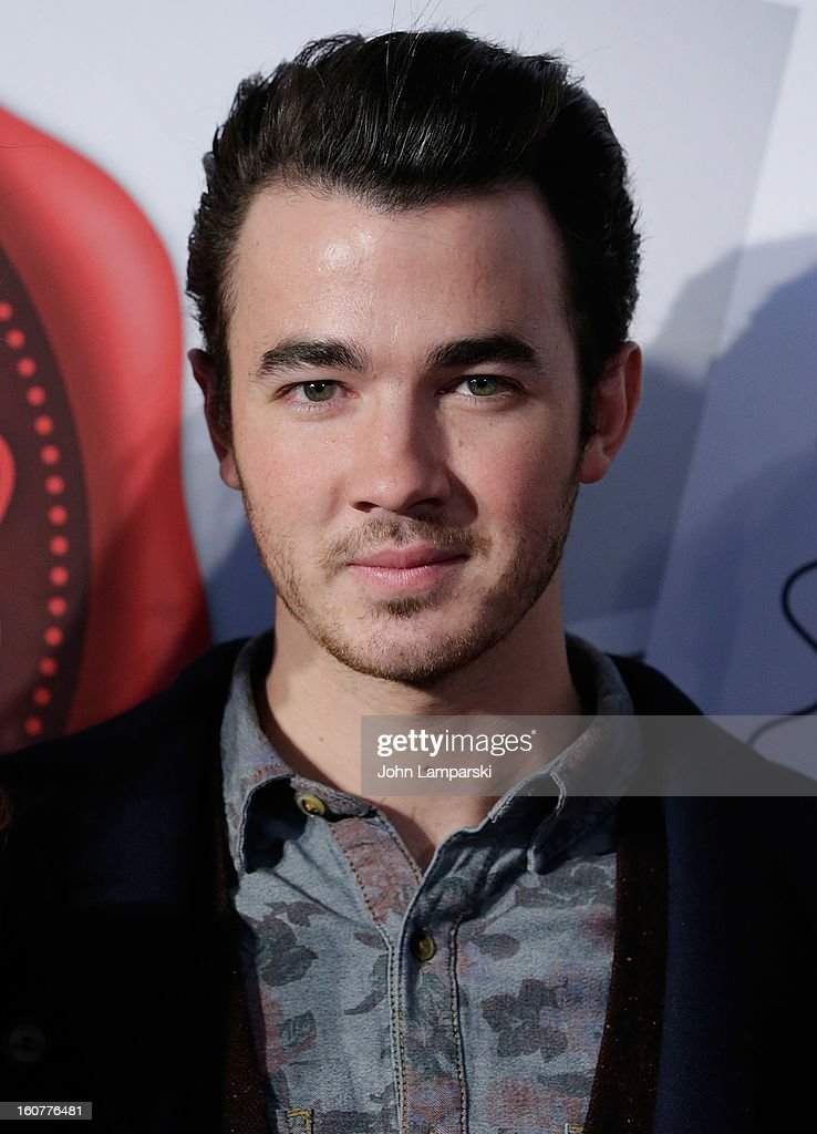 Kevin Jonas and2013 'Sealed With Love' U.S. Postal Stamp Unveiling at Broadway Pedestrian Plaza on February 5, 2013 in New York City.