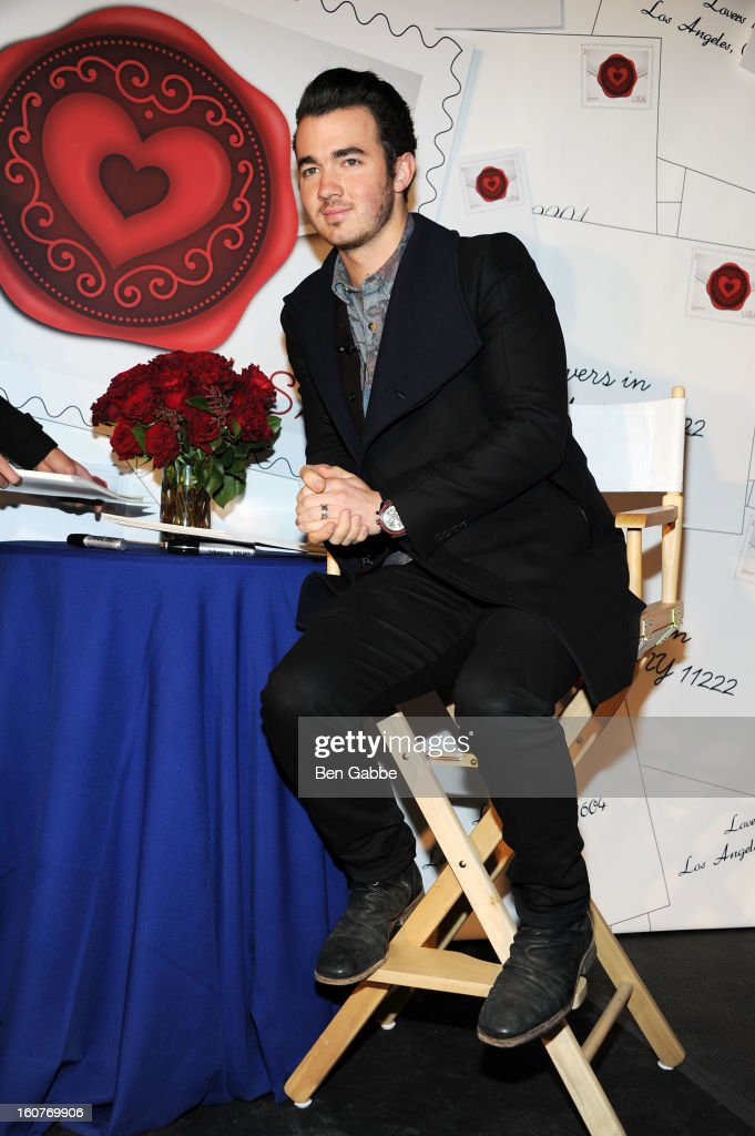 Kevin Jonas attends 2013 'Sealed With Love' U.S. Postal Stamp Unveiling at Broadway Pedestrian Plaza on February 5, 2013 in New York City.