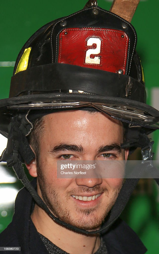 Kevin Jonas attends the City Harvest Holiday Season Food Drive at FDNY Station - Lexington & 3rd on December 14, 2012 in New York City.