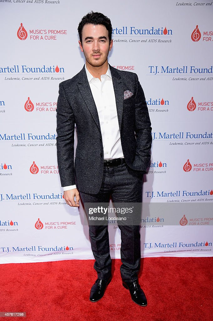 <a gi-track='captionPersonalityLinkClicked' href=/galleries/search?phrase=Kevin+Jonas&family=editorial&specificpeople=709547 ng-click='$event.stopPropagation()'>Kevin Jonas</a> attends the T.J. Martell Foundation's 39th Annual New York Honors Gala at Cipriani 42nd Street on October 21, 2014 in New York City.