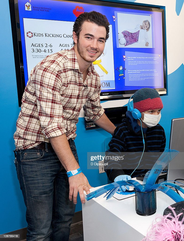 <a gi-track='captionPersonalityLinkClicked' href=/galleries/search?phrase=Kevin+Jonas&family=editorial&specificpeople=709547 ng-click='$event.stopPropagation()'>Kevin Jonas</a> attends the unveiling of the AOL media room at the Ronald McDonald House on October 7, 2011 in New York City.