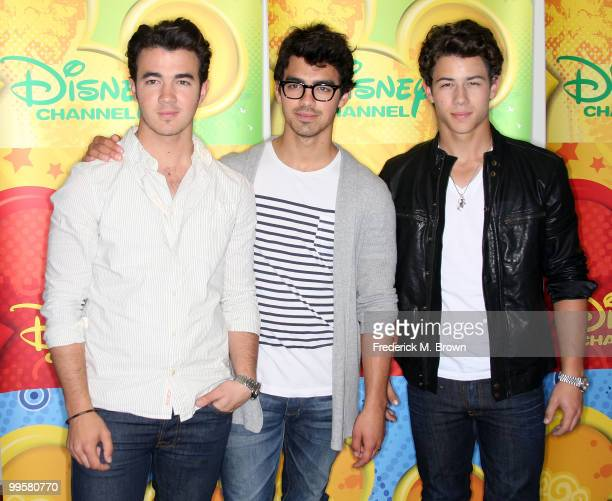 Kevin Jonas Joe Jonas and Nick Jonas of the Jonas Brothers attend the Disney and ABC Television Group Summer press junket at ABC on May 15 2010 in...