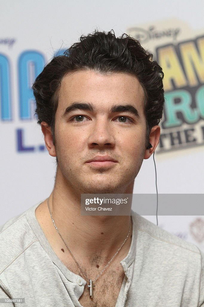 Kevin Jonas of The Jonas Brothers attends a press conference to promote the Jonas Brothers concert at Foro Sol and the movie 'Camp Rock 2 The Final...