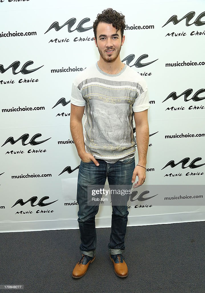 <a gi-track='captionPersonalityLinkClicked' href=/galleries/search?phrase=Kevin+Jonas&family=editorial&specificpeople=709547 ng-click='$event.stopPropagation()'>Kevin Jonas</a> of the Jonas Brothers visits Music Choice's U&A at Music Choice on June 20, 2013 in New York City.