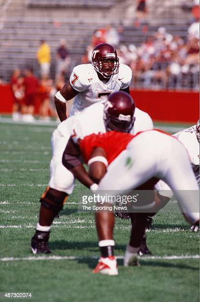 Kevin Jones of the Virginia Tech Hokies looks on against the Rutgers Scarlet Knights on September 22 2001