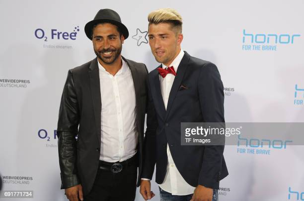 Kevin Kampl and Volkan Ari attend the Webvideopreis Deutschland 2017 at ISS Dome on June 1 2017 in Duesseldorf Germany