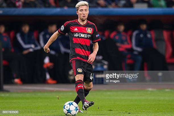 Kevin Kampl of Bayer 04 Leverkusen during the UEFA Champions League match between Bayer 04 Leverkusen and FC Barcelona on December 9 2015 at the...